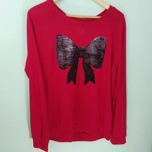 Tops - Sequin Bow Top, Size M